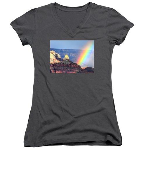 Rainbow Kisses The Grand Canyon Women's V-Neck