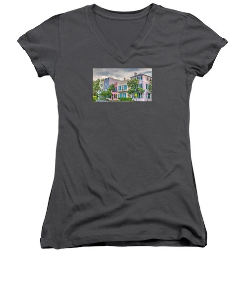 Rainbow Row II Women's V-Neck (Athletic Fit)