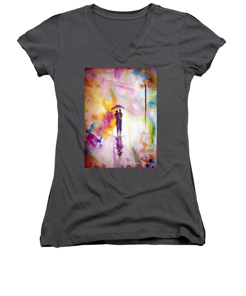 Rainbow Walk Of Love Women's V-Neck (Athletic Fit)