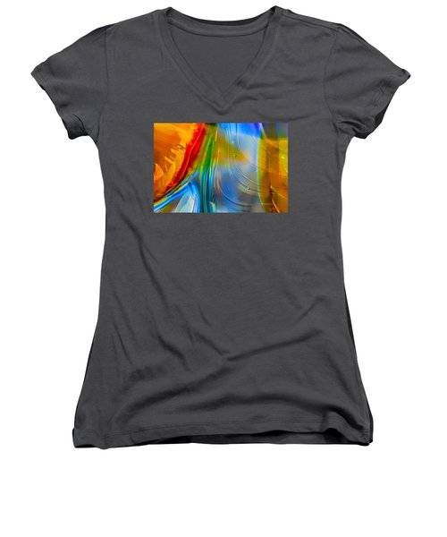 Rainbow Waterfalls Women's V-Neck (Athletic Fit)