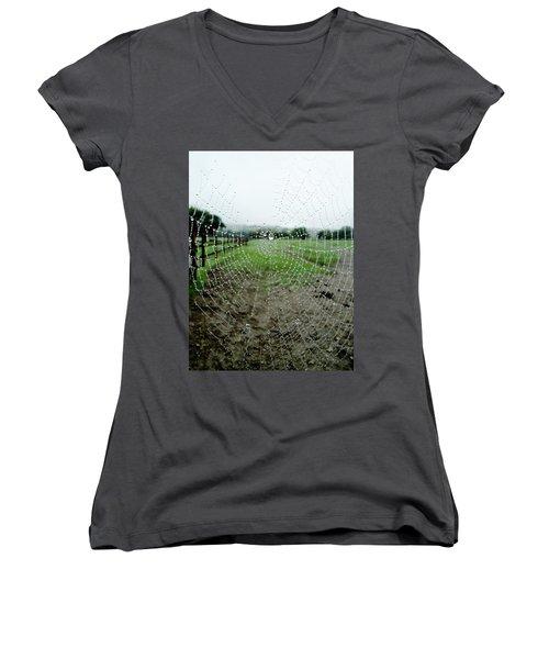 Raincatcher Web Women's V-Neck T-Shirt
