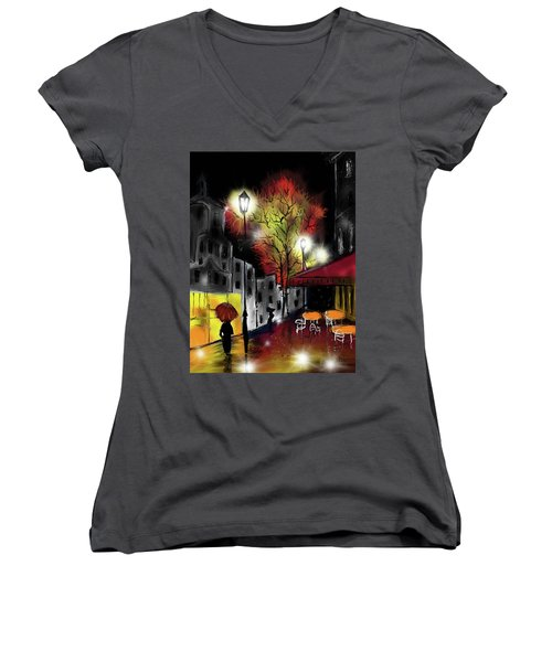 Raining And Color Women's V-Neck (Athletic Fit)
