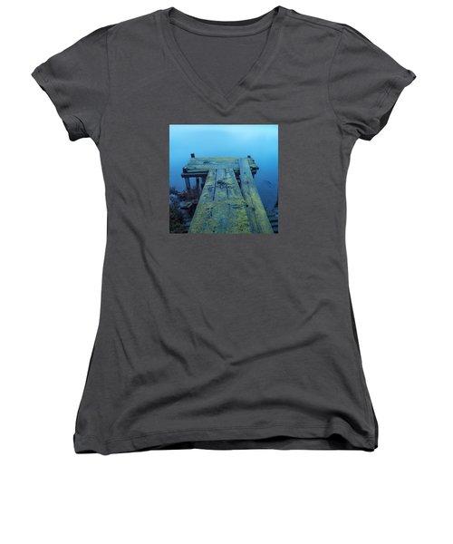 Rainning Day Mood Women's V-Neck T-Shirt