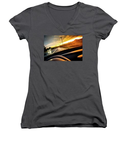 Rainy Day In July II Women's V-Neck