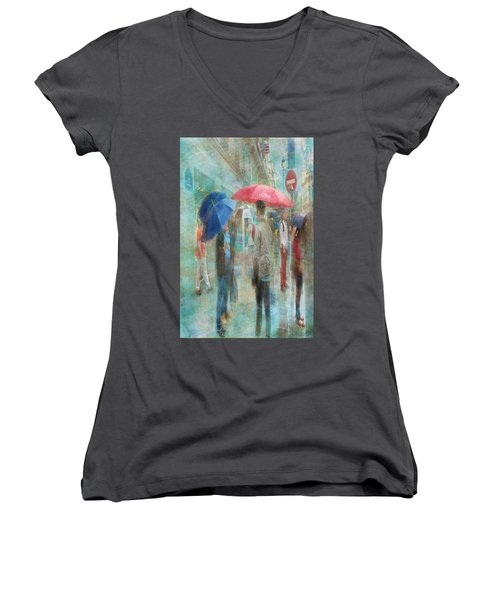 Rainy In Paris 6 Women's V-Neck T-Shirt