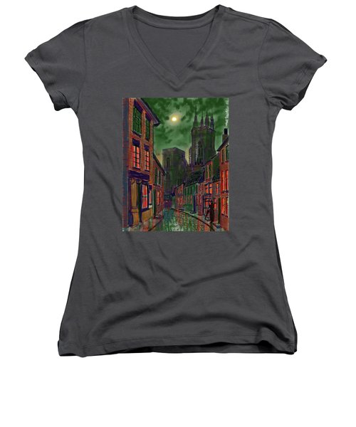 Rainy Night In Kirkgate Women's V-Neck
