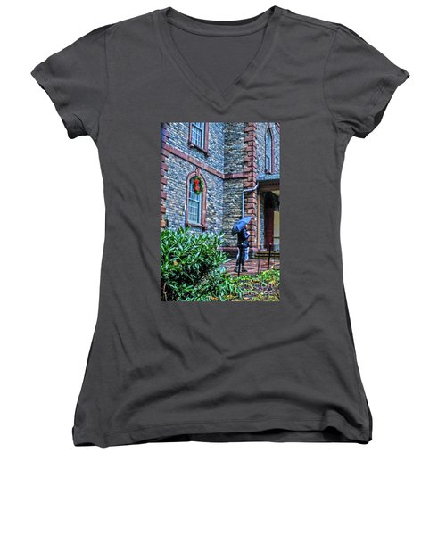 Rainy Sunday Women's V-Neck T-Shirt