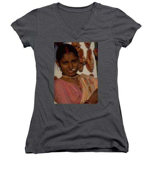Rajasthan Women's V-Neck T-Shirt (Junior Cut)