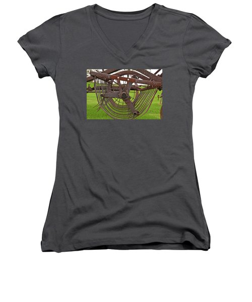 Women's V-Neck T-Shirt (Junior Cut) featuring the photograph Rake 3118 by Guy Whiteley