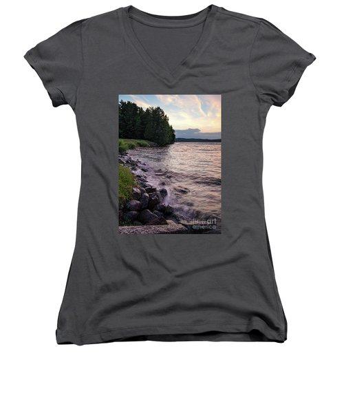 Rangeley Lake State Park In Rangeley Maine  -53215-53218 Women's V-Neck