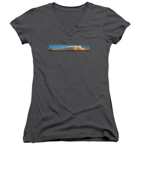 Rare Tornadic Supercells In Nebraska 005 Women's V-Neck T-Shirt
