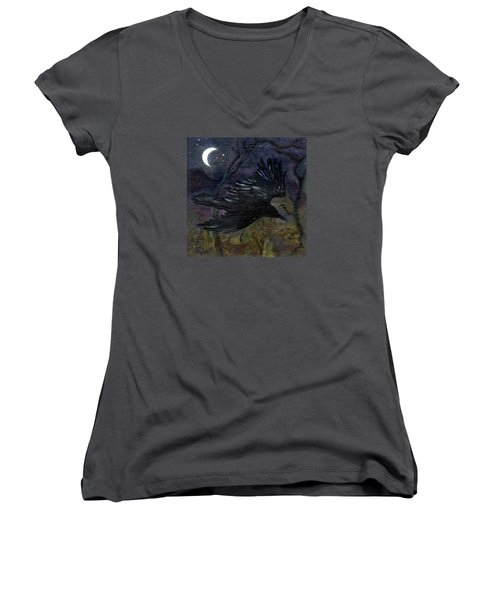 Raven In Stars Women's V-Neck