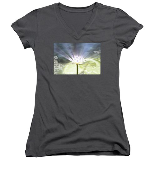 Rays Of Hope Women's V-Neck (Athletic Fit)