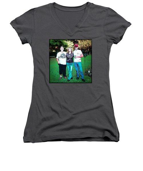 Rays Of Light Women's V-Neck T-Shirt
