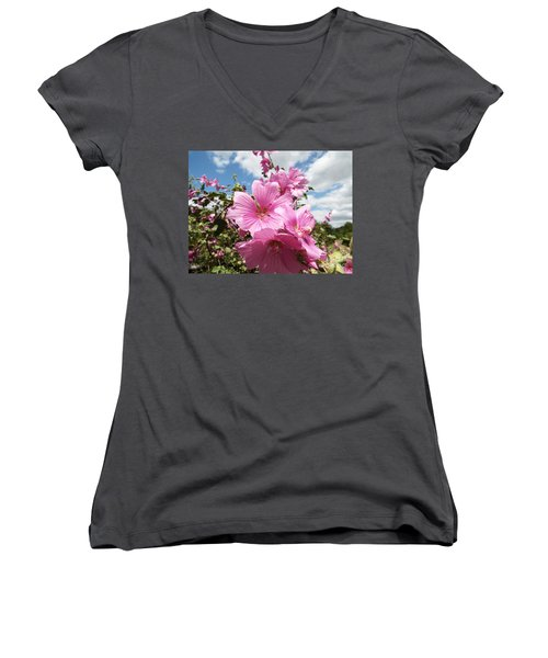 Reach For The Sky Women's V-Neck T-Shirt