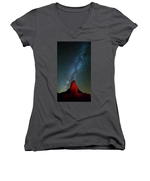 Women's V-Neck T-Shirt (Junior Cut) featuring the photograph Reach For The Stars by Stephen Stookey