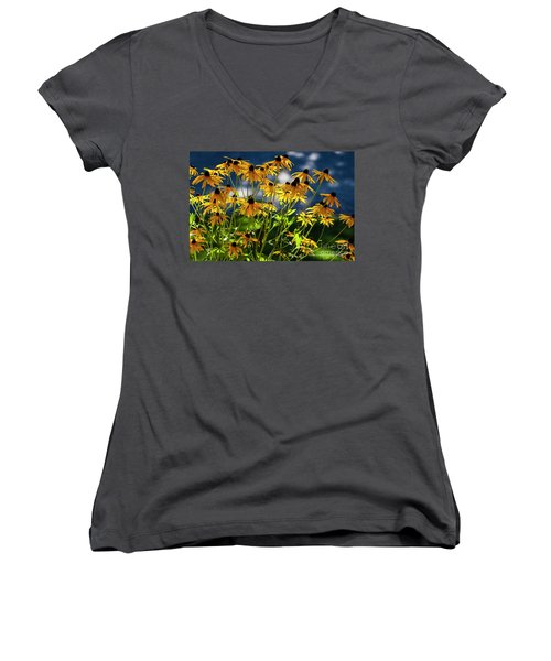 Reaching For The Blue Sky Women's V-Neck T-Shirt