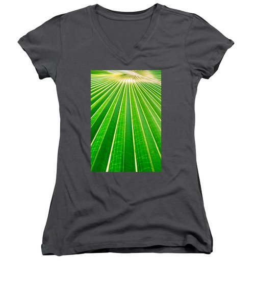 Reaching Out Women's V-Neck T-Shirt (Junior Cut) by Holly Kempe