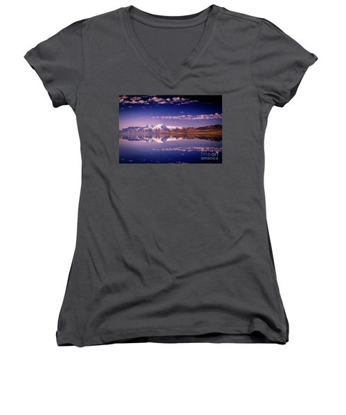 Reacting To The Morning Light Women's V-Neck