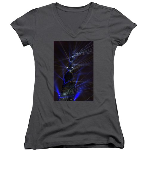 Women's V-Neck featuring the photograph Ready Fire Aim by Alex Lapidus