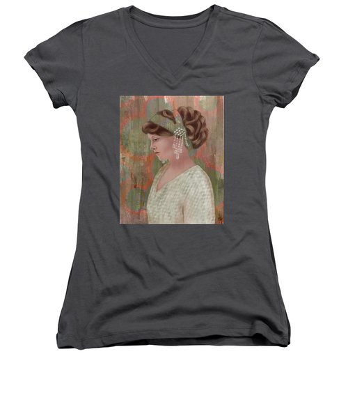 Ready To Go Women's V-Neck T-Shirt (Junior Cut) by Terry Honstead