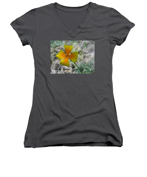One Gold Flower Living Life In The Desert Women's V-Neck (Athletic Fit)
