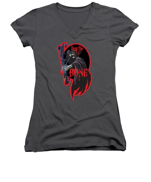 Reaper Archer Women's V-Neck T-Shirt (Junior Cut) by Rob Corsetti