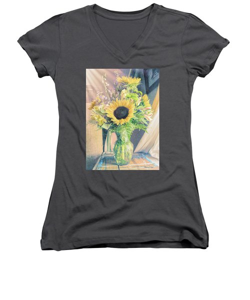 Women's V-Neck T-Shirt featuring the photograph Reared In The Lap Of Summer by Bellesouth Studio