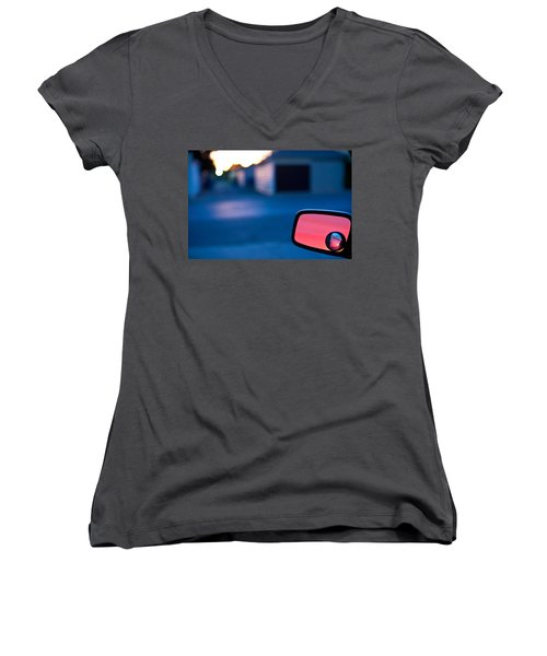 Rearview Mirror Women's V-Neck (Athletic Fit)