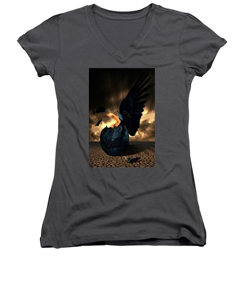 Reborn Women's V-Neck T-Shirt