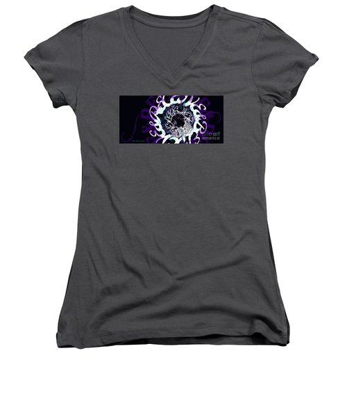 Receive And Believe In Black Women's V-Neck T-Shirt