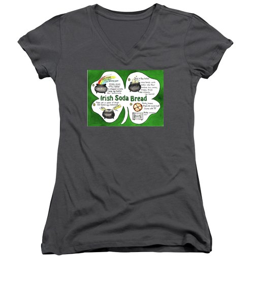 Recipe - Irish Soda Bread Women's V-Neck