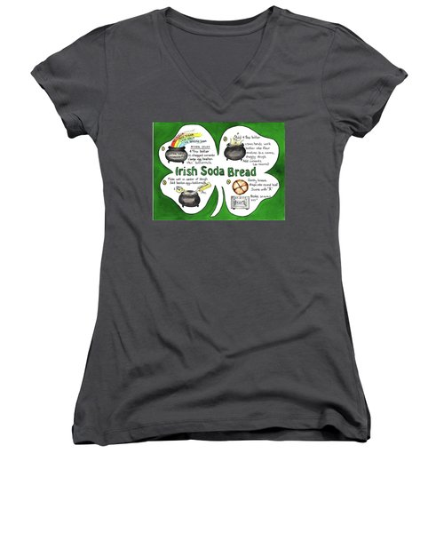 Recipe - Irish Soda Bread Women's V-Neck T-Shirt (Junior Cut)