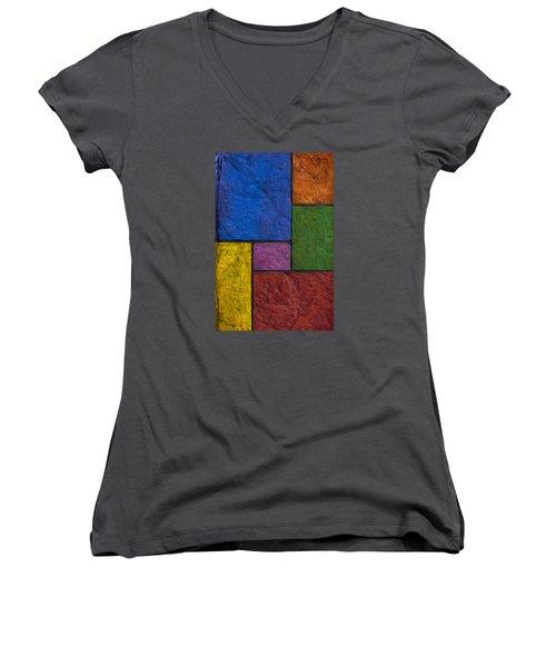 Rectangles Women's V-Neck T-Shirt