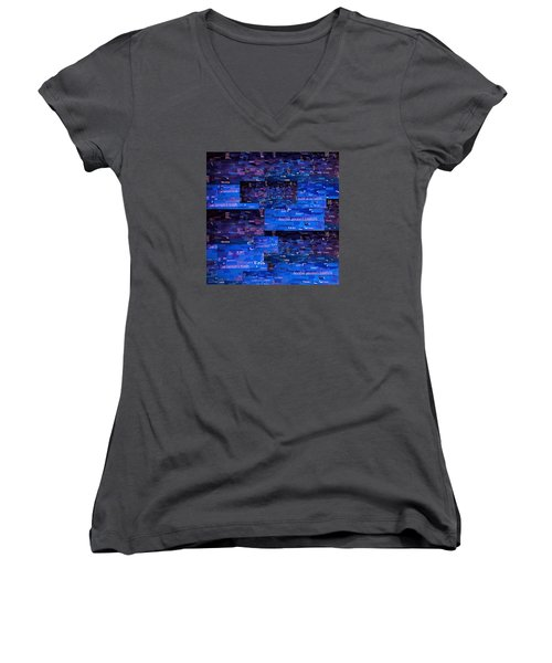 Women's V-Neck T-Shirt (Junior Cut) featuring the digital art Recycling by Shawna Rowe