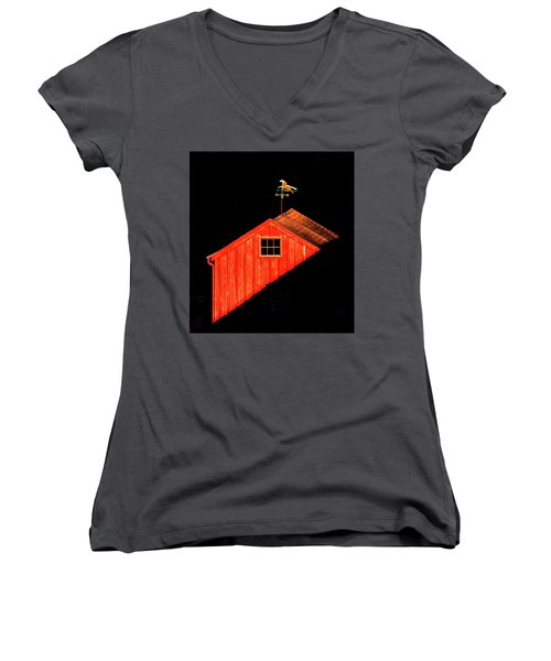 Red Barn Women's V-Neck
