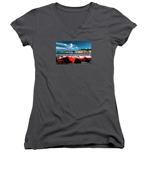 Red Boat Diaries Women's V-Neck (Athletic Fit)
