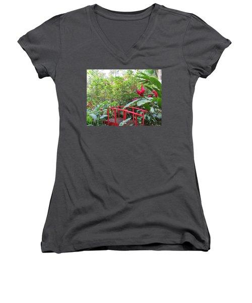 Red Bridge Women's V-Neck T-Shirt