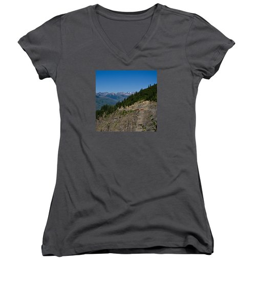 Red Buses, Glacier National Park Women's V-Neck