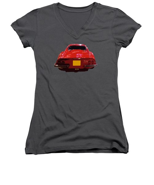 Red Classic Emd Women's V-Neck (Athletic Fit)