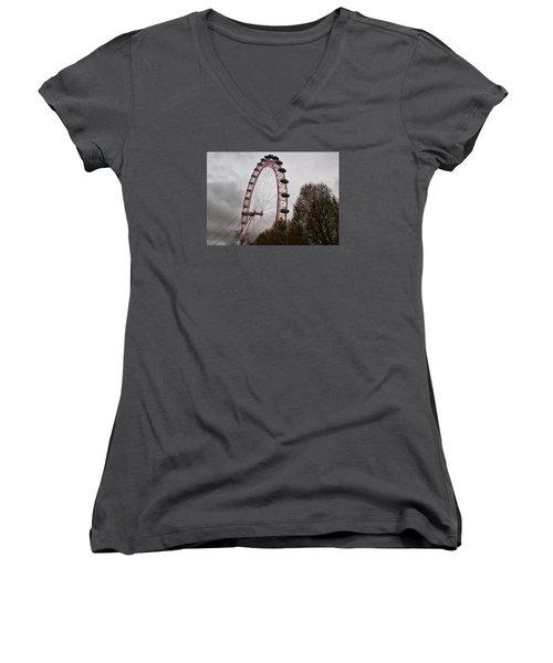 Red Eye Women's V-Neck T-Shirt