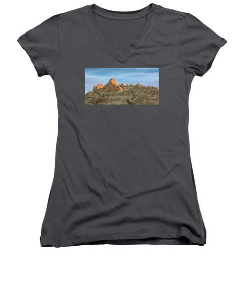 Red Faced Panorama Women's V-Neck T-Shirt