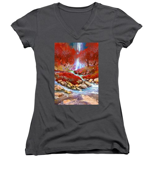 Red Forest Women's V-Neck (Athletic Fit)