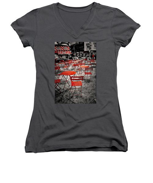Red In My World - New York City Women's V-Neck