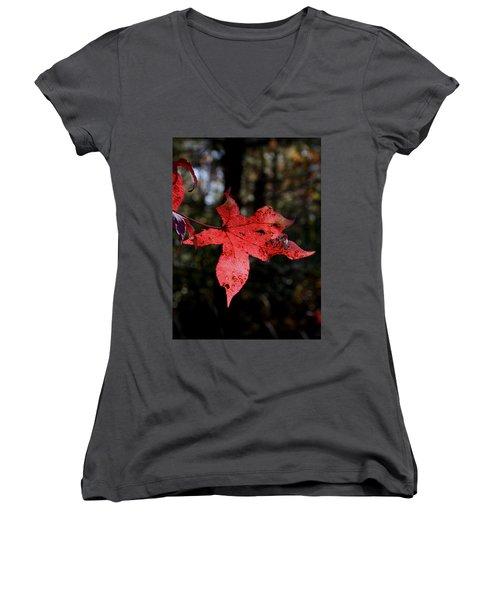 Red Leaf Women's V-Neck