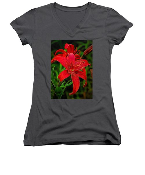 Red Lily Women's V-Neck
