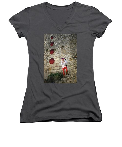 Red Piper Women's V-Neck