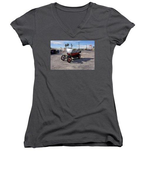 Red Roadster Women's V-Neck