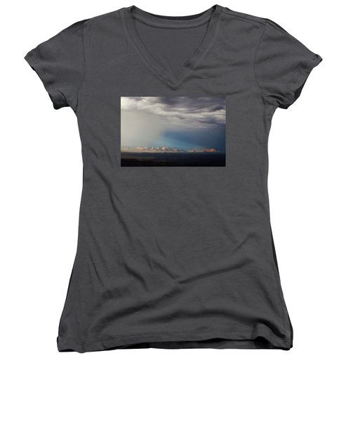 Red Rock Monsoon Women's V-Neck T-Shirt