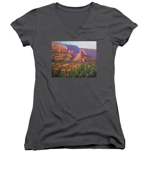 Red Rocks Sedona Women's V-Neck T-Shirt
